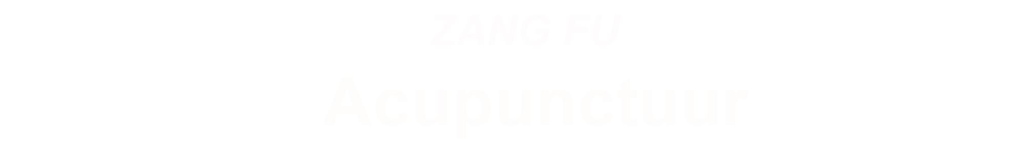 ZANG FU Acupunctuur