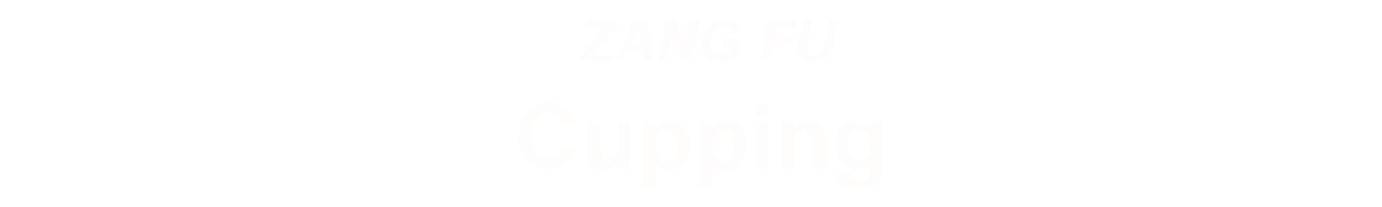 ZANGFU CUPPING